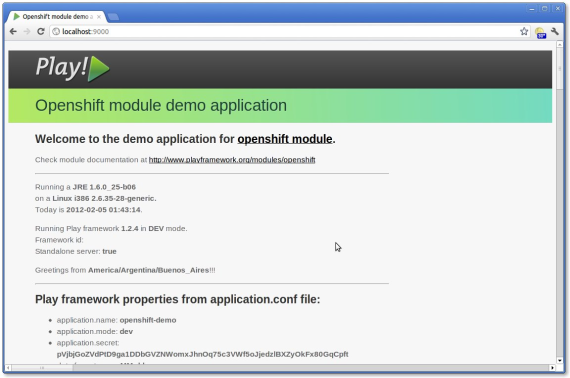 Openshift module demo application